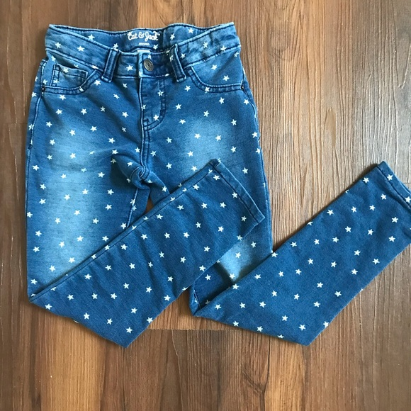 NWT Girls Medium Blue Cat /& Jack Stars Jean Pant Size 18 Plus